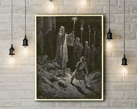 Gustave Dore: The Corpse Candles. Fine Art Canvas.